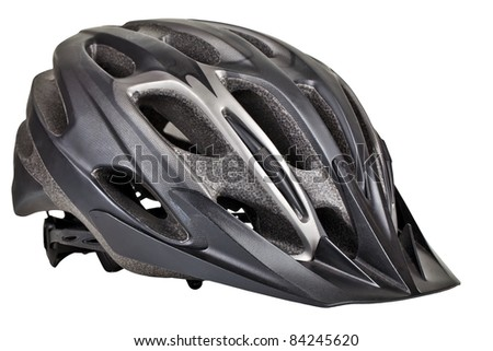 Cycling safety helmet on a white background - stock photo