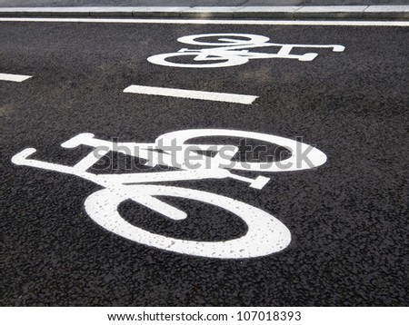 cycling signs on street