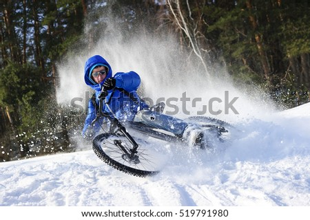 mountainbike snow winter extreme-#21