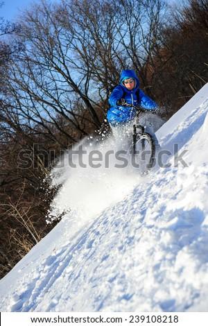 mountainbike snow winter extreme - photo #23