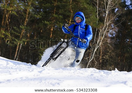 mountainbike snow winter extreme-#25