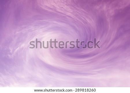 Cyclone sky - stock photo