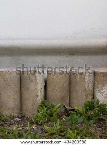 cylinder concrete block - stock photo
