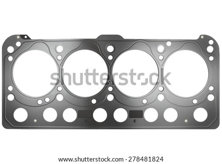Cylinder head gasket isolated on white background