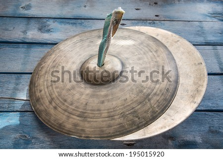 cymbals music - stock photo