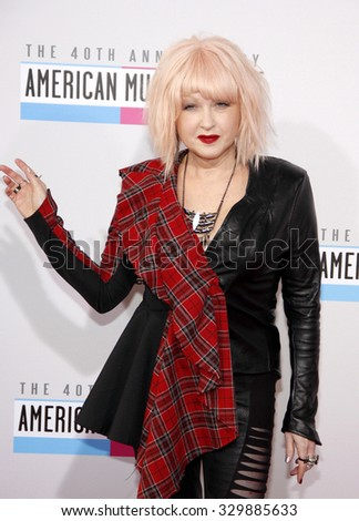 Cyndi Lauper at the 2012 American Music Awards held at the Nokia Theatre L.A. Live in Los Angeles, USA on November 18, 2012.