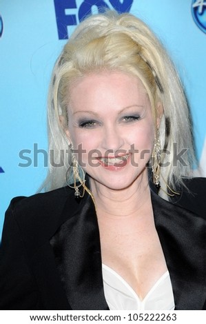 Cyndi Lauper  in the Press Room at the 'American Idol' Grand Finale 2009. Nokia Theatre, Los Angeles, CA. 05-20-09