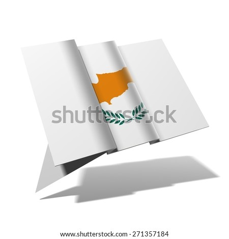 Cyprus flag 3D banner - stock photo