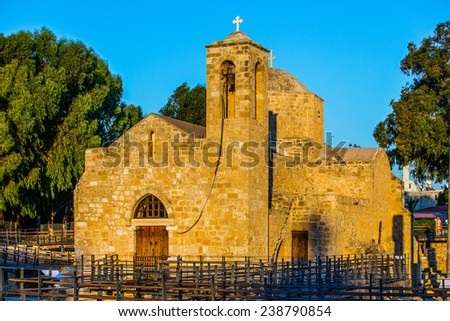 Cyprus Paphos Archeological site - stock photo