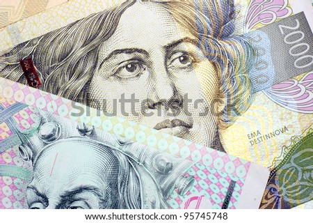 Czech banknotes. - stock photo