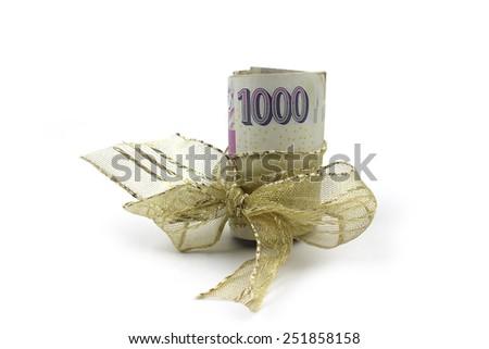 Czech banknotes - money, gift  - stock photo