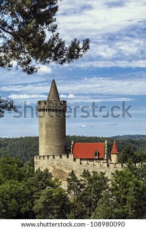 Czech castle - stock photo