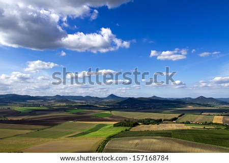 CZECH CENTRAL MOUNTAINS - stock photo
