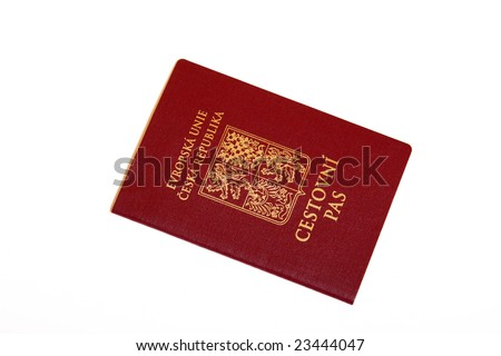 Czech new passport - stock photo