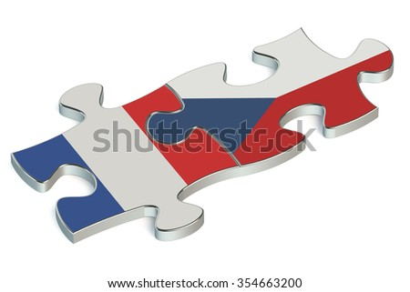 Czech Republic and France puzzles from flags