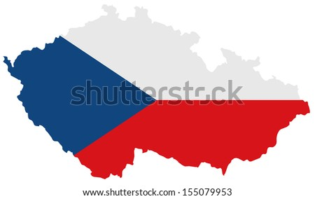 Czech Republic - Map flag