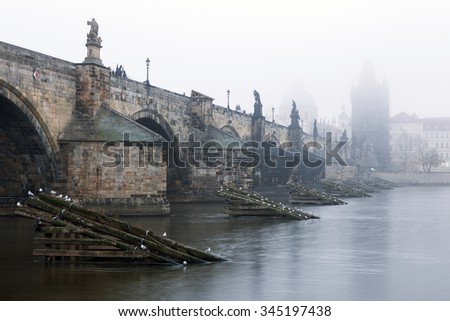 Czech Republic - Prague -  Charles Bridge - stock photo