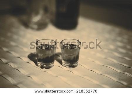 Czech traditional alcoholic drink - RUM - stock photo