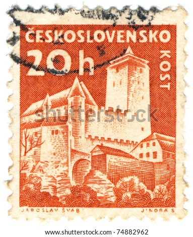 CZECHOSLOVAKIA - CIRCA 1960: A stamp printed in Czechoslovakia shows of Kost Castle, circa 1960.