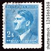 CZECHOSLOVAKIA - CIRCA 1942: a stamp printed in the Czechoslovakia shows Adolf Hitler, Chancellor of Germany, Politician, Bohemia and Moravia, circa 1942 - stock photo