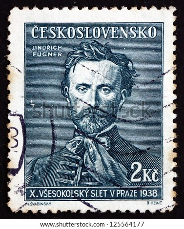 CZECHOSLOVAKIA - CIRCA 1938: a stamp printed in the Czechoslovakia shows Jindrich Fugner, Co-Founder of Sokol Movement, circa 1938