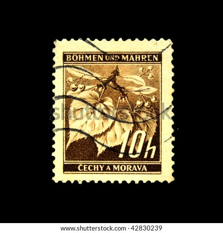 CZECHOSLOVAKIA - CIRCA 1930s: A Stamp printed in Czechoslovakia shows linde, circa 1930s