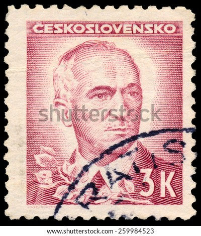 CZECHOSLOVAKIA - CIRCA 1945: stamp printed by Czechoslovakia, shows Benes, circa 1945