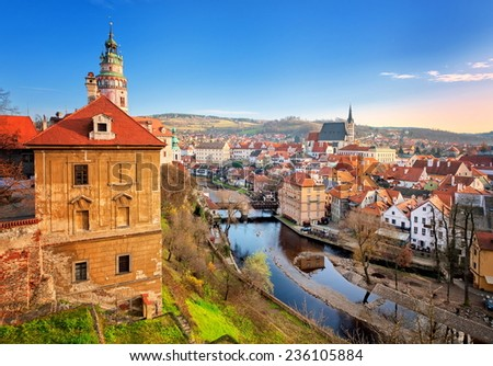 Czesky Krumlov, Czech Republic - stock photo
