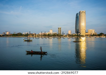 DA NANG, VIETNAM - MARCH 13: View of Da Nang city centre, Vietnam on March 13, 2015. Da Nang is the third largest city of Vietnam.