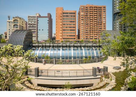 Daan Park MRT station in Taipei, Taiwan - stock photo