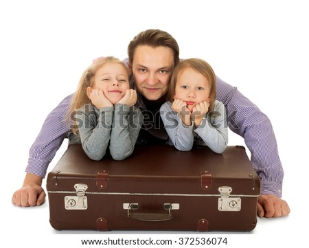 Dad and daughter  - stock photo