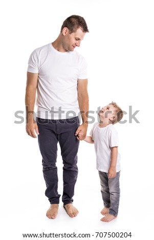 Dad with son