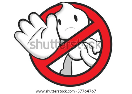 DaDa showing a stop sign. - stock photo