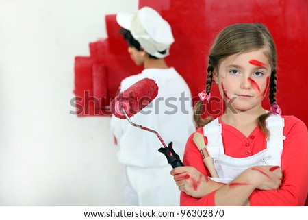 Daddy told me to be careful - stock photo