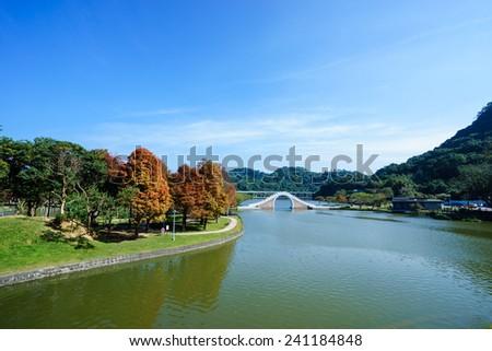 dahu park in taiwan - stock photo