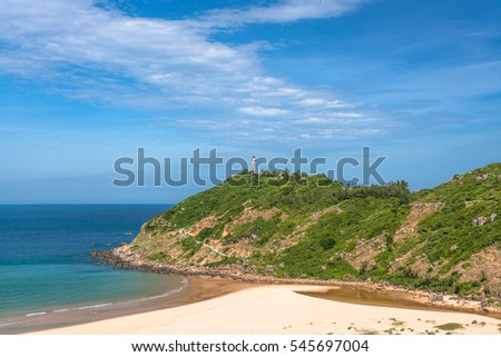 DAI LANH, MUI DIEN, PHU YEN, VIETNAM - MAR, 2016: Dai Lanh, Phu Yen Province is the most beautiful bays in central Vietnam