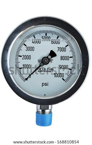 dail Pressure Gauge - stock photo