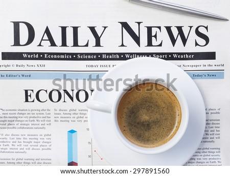 Daily news - stock photo