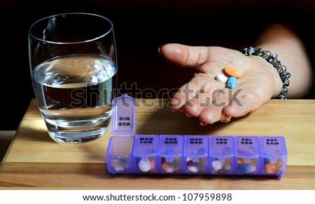 Daily Pills - stock photo