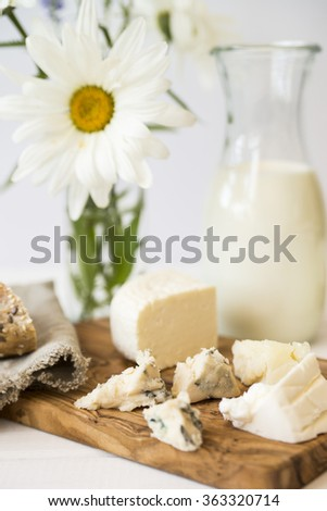 dairy food: milk, cheese, butter