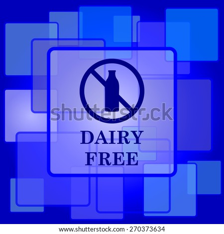 Dairy free icon. Internet button on abstract background.  - stock photo