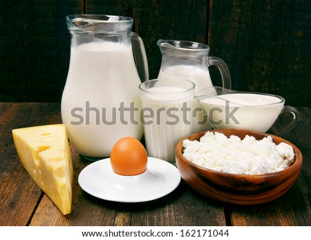 Dairy products. - stock photo