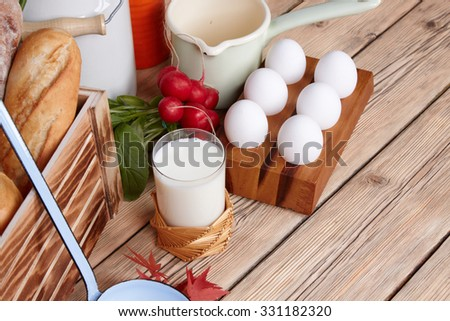 Dairy products - stock photo