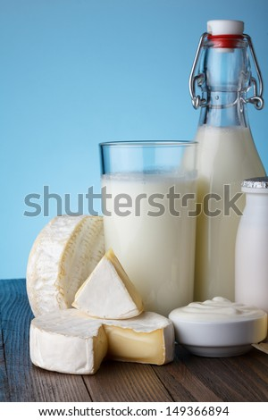 Dairy products close-up
