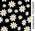Daisy background. Raster version - stock photo