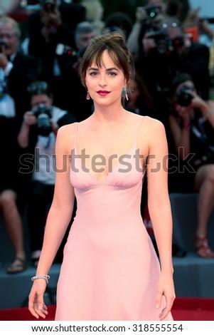 Dakota Johnson at the premiere of Black Mass at the 2015 Venice Film Festival. September 4, 2015  Venice, Italy  - stock photo