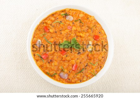 Dal curry,Lentil soup ,Indian cuisine.Selective focus. - stock photo