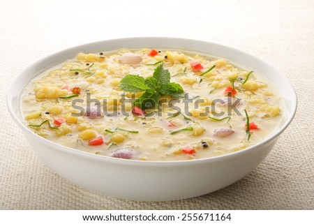 Dal or popular north indian lentils dish,Selective focus. - stock photo