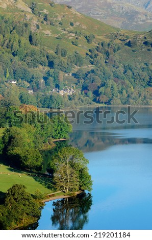Dale End at the side of Grasmere in  Lake District National Park England - stock photo