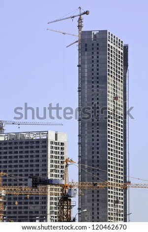 DALIAN-NOV. 28. Skyscraper under construction. McKinsey predicts that China will build up to 50,000 skyscrapers in the next 20 years, the equivalent of 10 New Yorks. Dalian, China, Nov. 28, 2012.